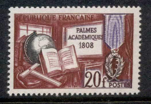 France 1959 French Academy MUH