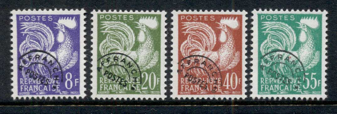 France 1959 Gallic Cock Precancels MUH