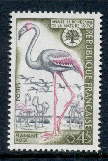 France 1970 Nature Conservation, Birds, Flamingo MUH