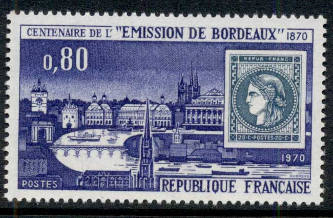 France 1970 Centenary of Bordeaux Stamp MUH