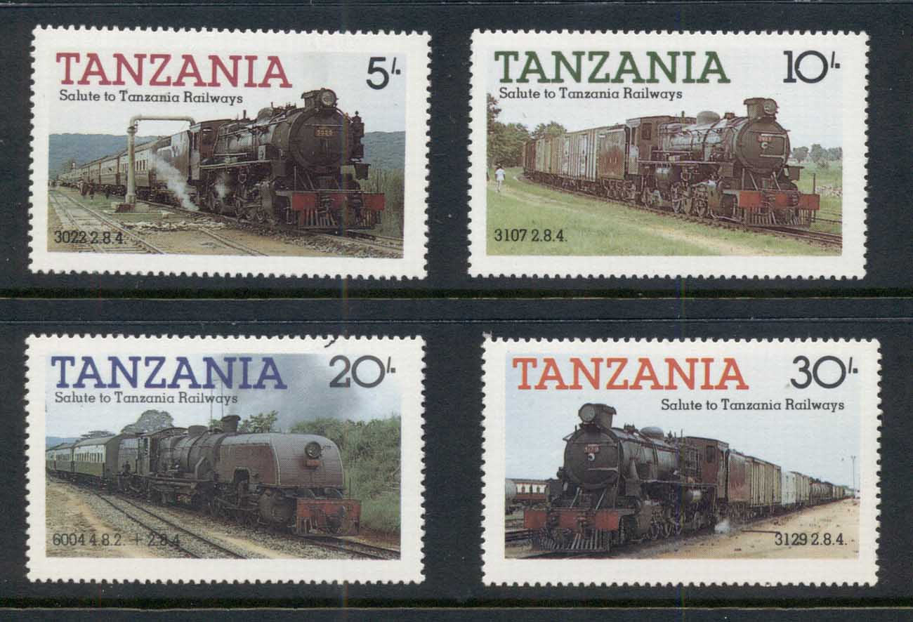 Tanzania 1985 Tanzanian Railways, Trains MUH