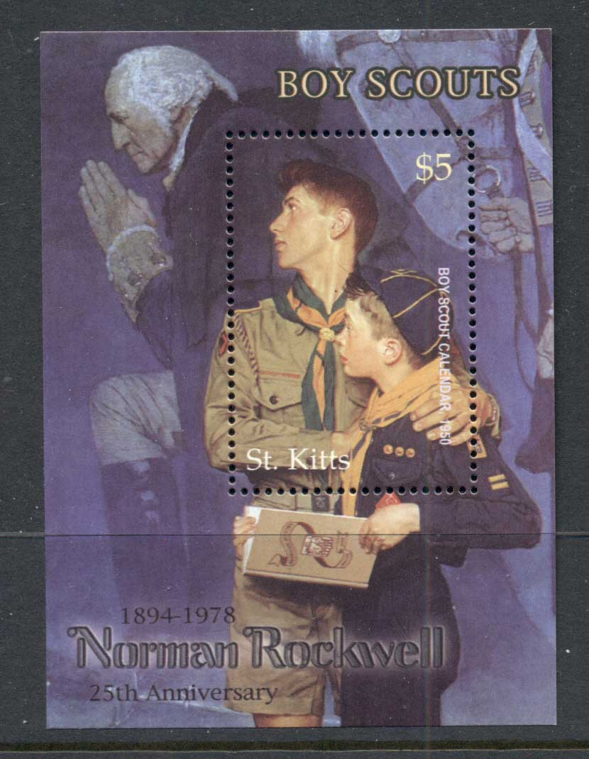 St Kitts 2003 Boy Scouts, Norman Rockwell MS MUH