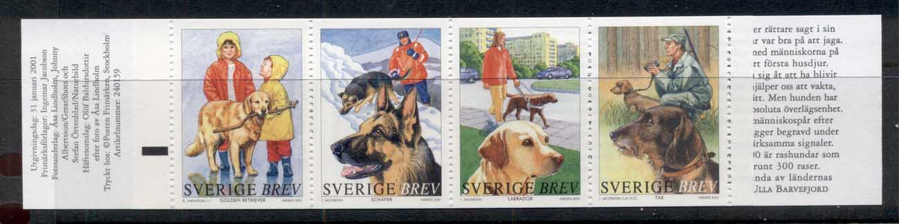 Sweden 2001 Dogs booklet MUH