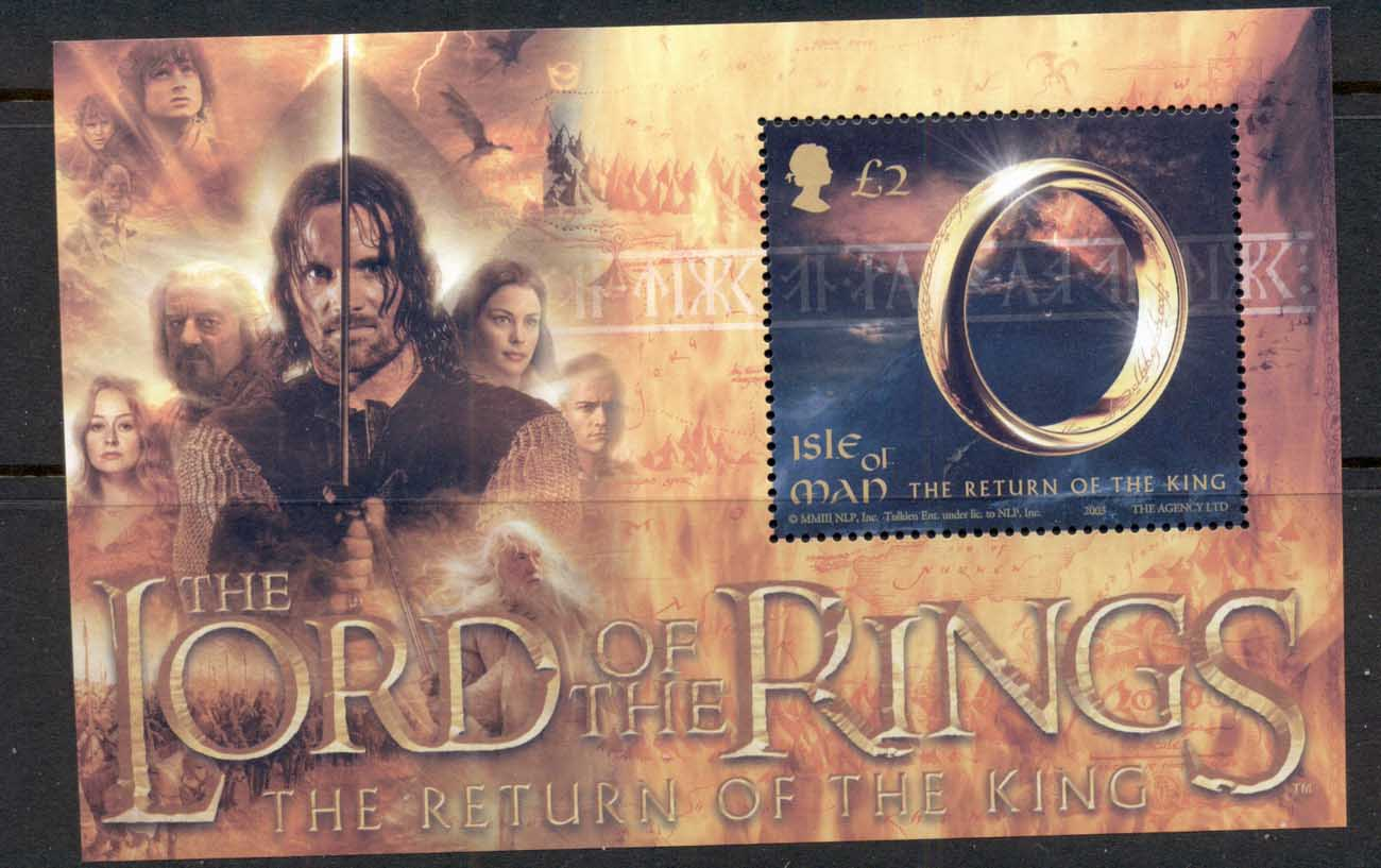 Isle of Man 2003 Lord of the Rings, LOTR , Return of the King MS MUH