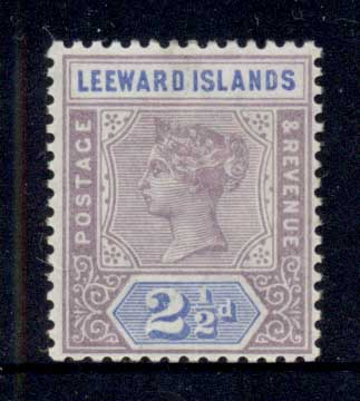 Leeward Is 1890 QV Keyplate 2.5d MLH