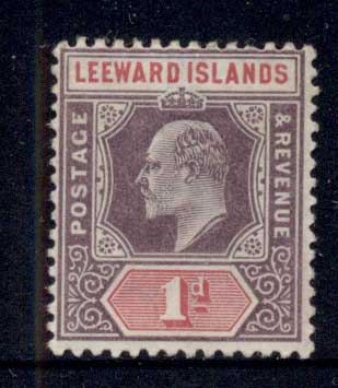 Leeward Is 1905-11 KEVII Keyplate 1d MUH