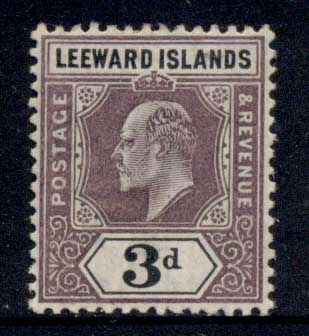Leeward Is 1905-11 KEVII Keyplate 3d MLH