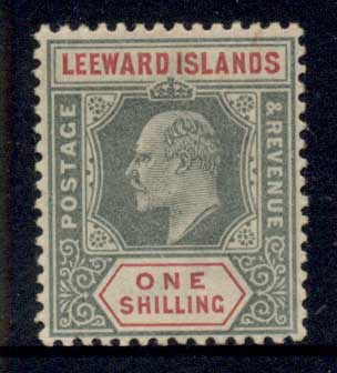 Leeward Is 1905-11 KEVII Keyplate 1/- MLH