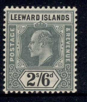 Leeward Is 1905-11 KEVII Keyplate 2/6d MUH