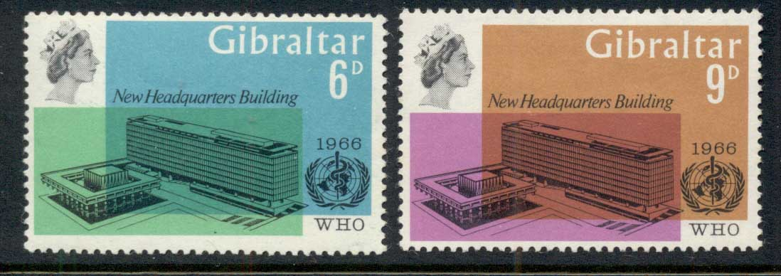 Gibraltar 1966 WHO Headquarters MUH