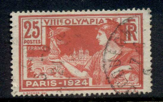 France 1924 Summer Olympics, Paris 25c FU