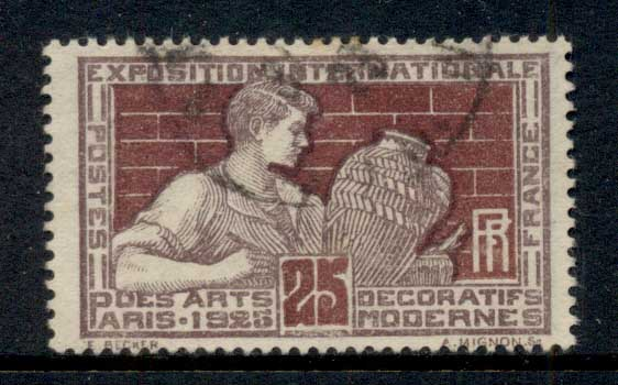 France 1924-25 Intl. Exhibition of Decorative & Modern Arts 25c FU