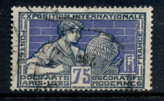 France 1924-25 Intl. Exhibition of Decorative & Modern Arts 75c FU
