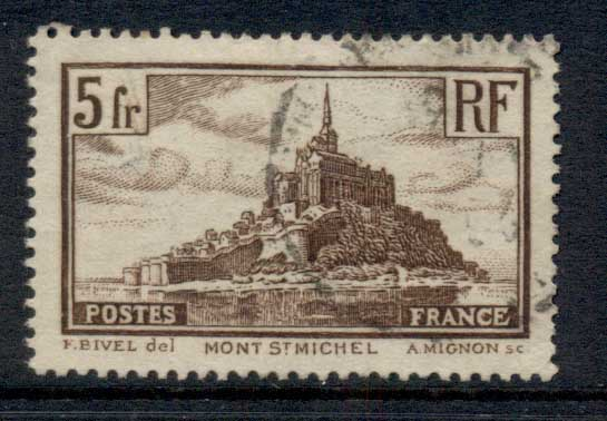 France 1929-33 Mont Saint Michel Die II FU