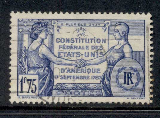 France 1937 USA Constitution FU