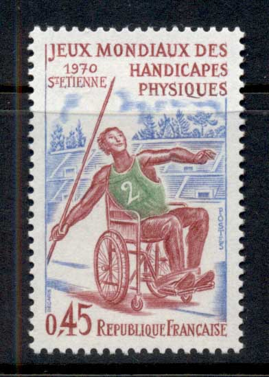 France 1970 Intl. Games of the Handicapped CTO
