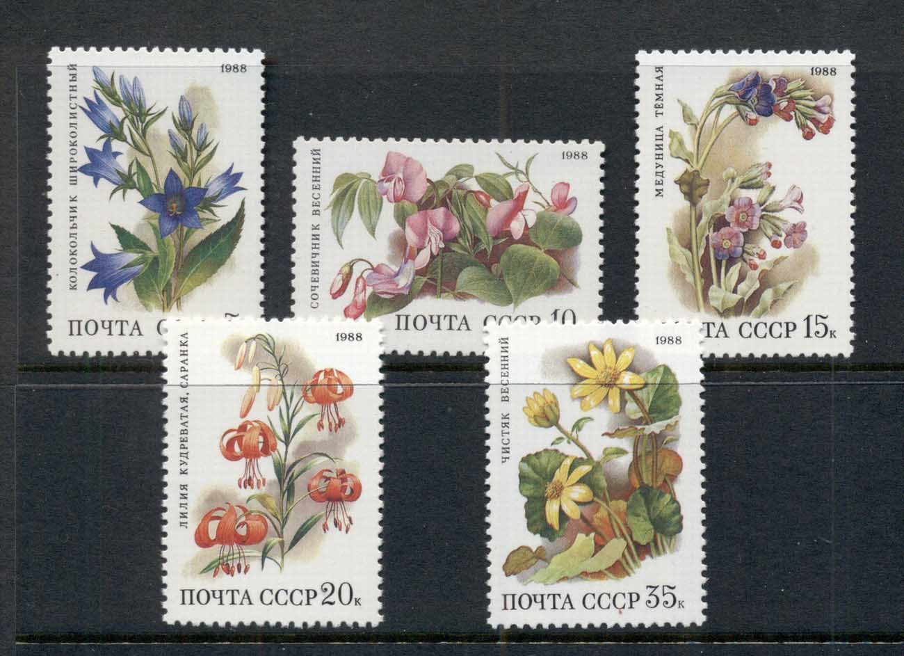 Russia 1988 Deciduous Forest Flowers MUH