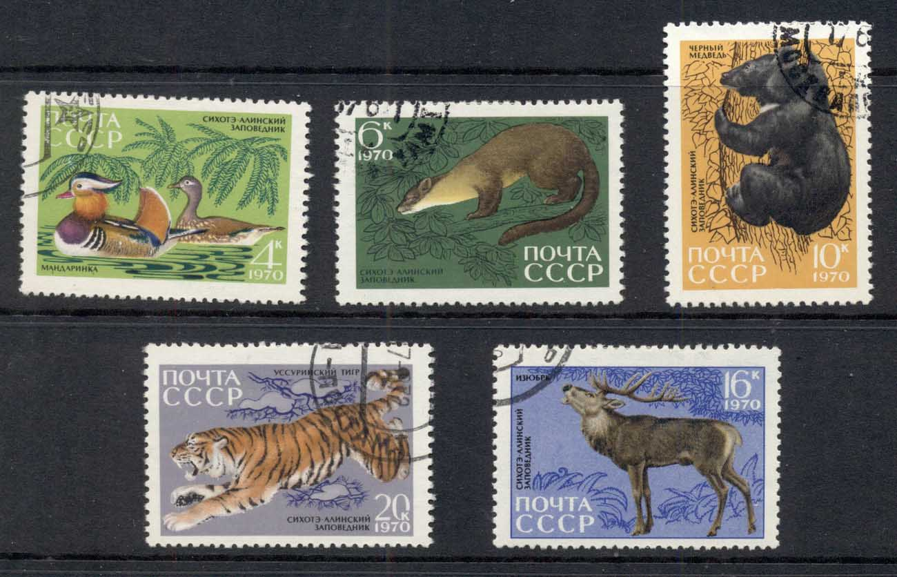 Russia 1970 Animals from Sikhote-Alin Reserve CTO