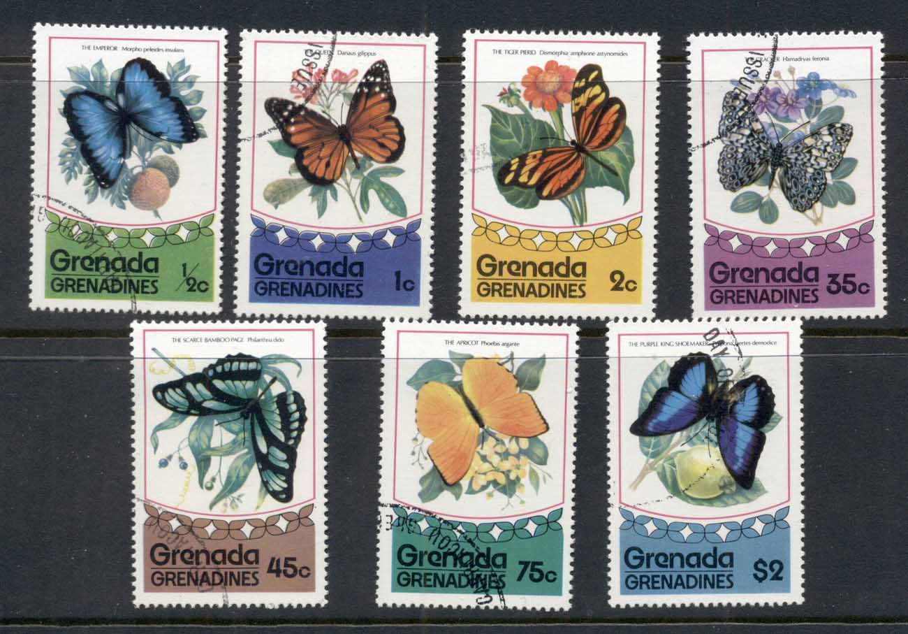 Grenada Grenadines 1975 Flowers & Insects, Butterflies CTO
