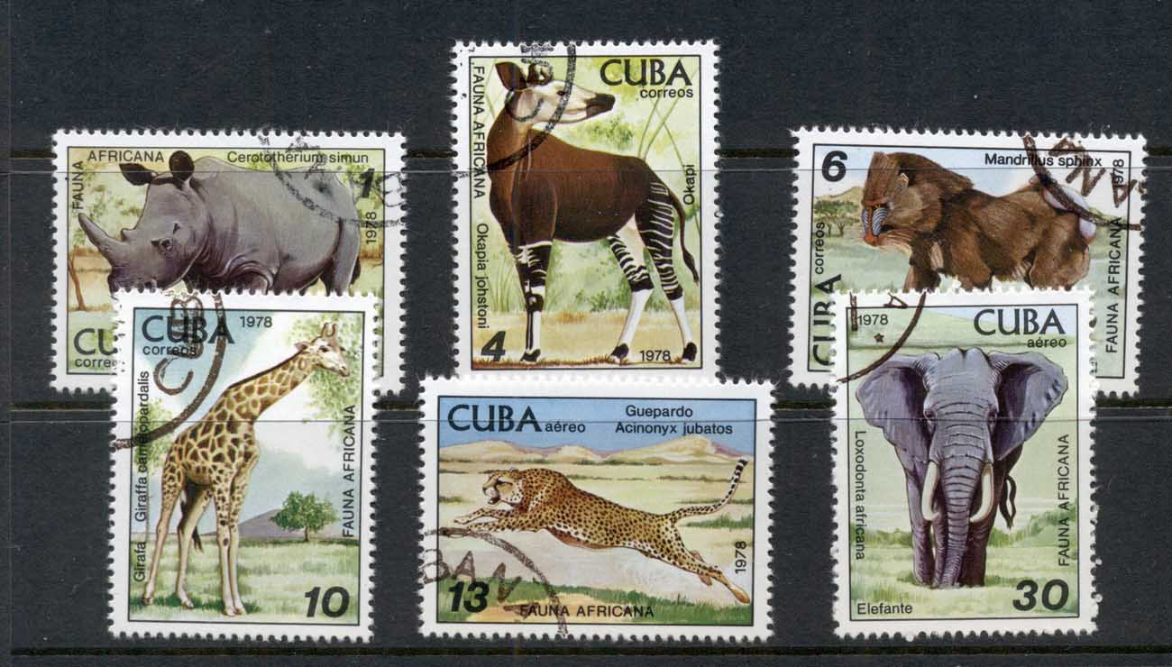 Caribbean Is 1978 Zoo Animals, Elephant, Rhino CTO