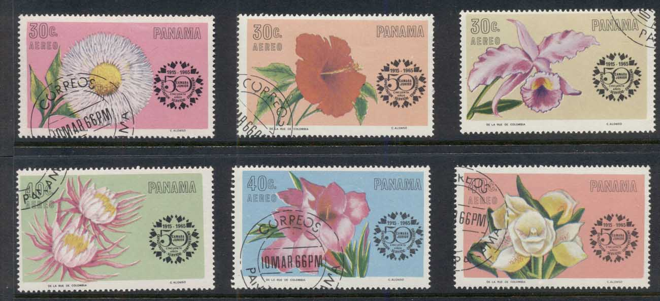 Panama 1965 Chamber of Commerce Flowers CTO