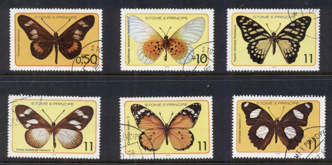 Sao Tome et Principe 1979 Insects, Butterflies CTO