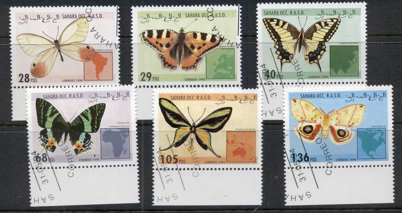 Sahara Occidental 1994 Insects Butterflies CTO