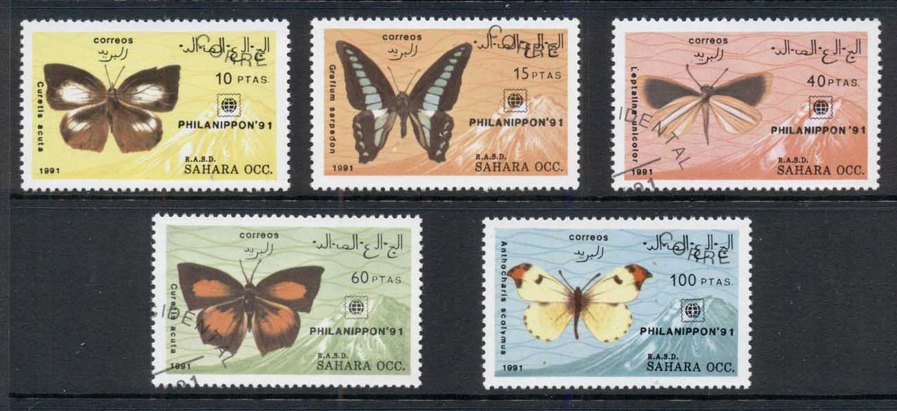 Sahara Occidental 1991 Insects Butterflies CTO