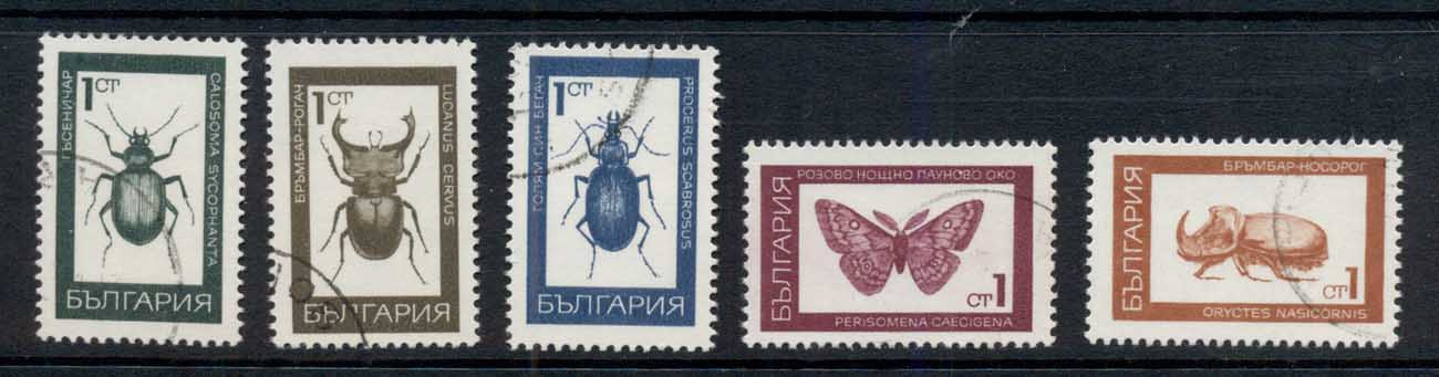 Bulgaria 1968 Insects Beetles CTO