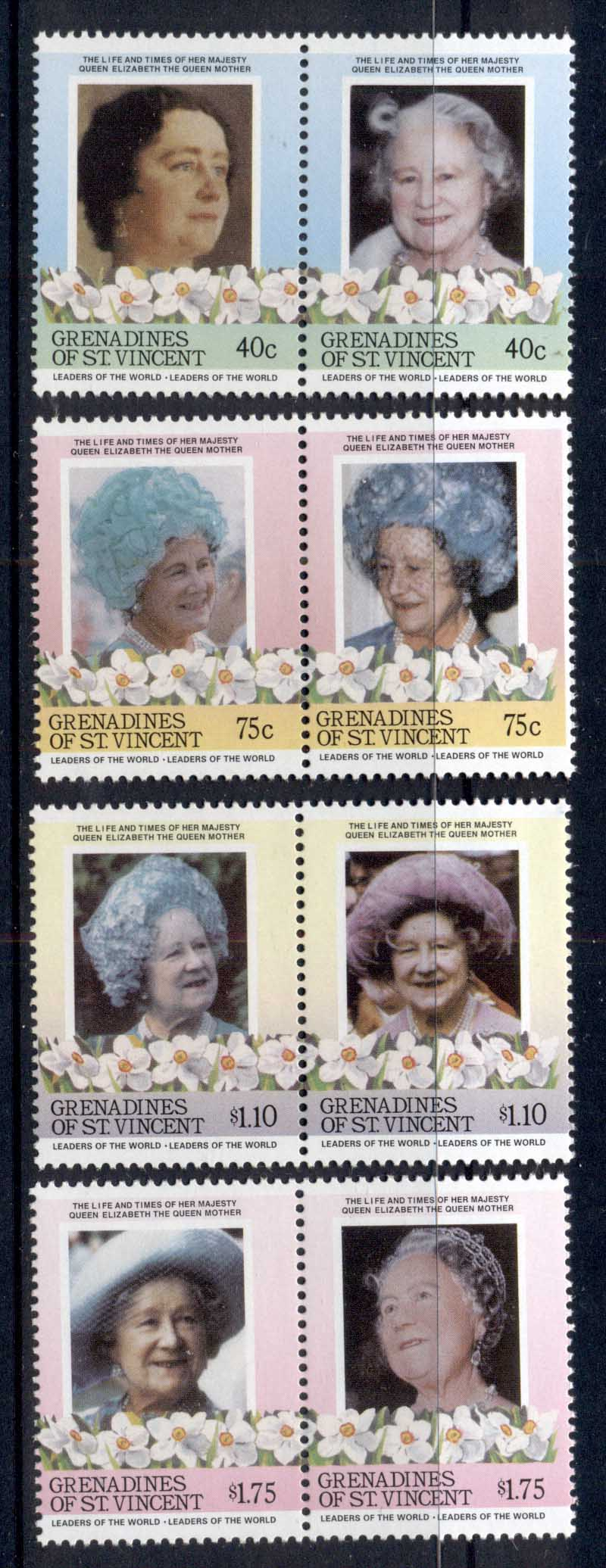 St Vincent Grenadines 1985 LOW Queen Mother 85th Birthday REPRODUCTIONS Forgeries