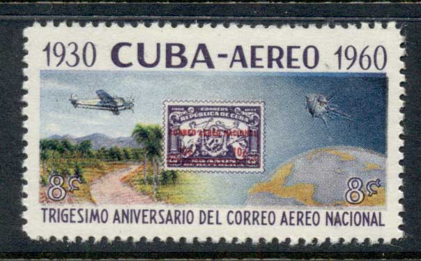Caribbean Is 1960 Airmail 30th Anniv MUH