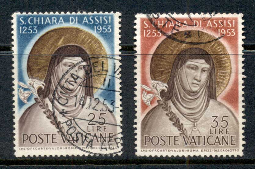 Vatican 1953 St Clare of Assissi FU