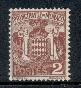 Monaco 1924-33 Coat of Arms 2c MUH