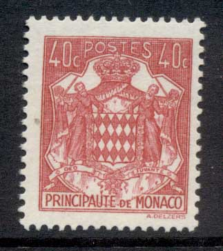 Monaco 1937-43 Coat of Arms 40c MUH