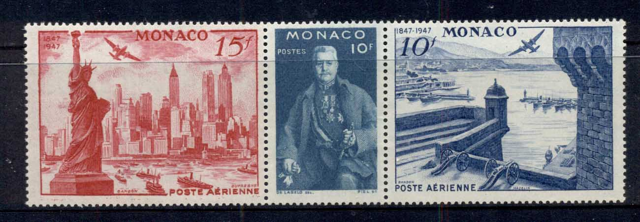 Monaco 1946 Centenary Philatelic Ex str3 MUH