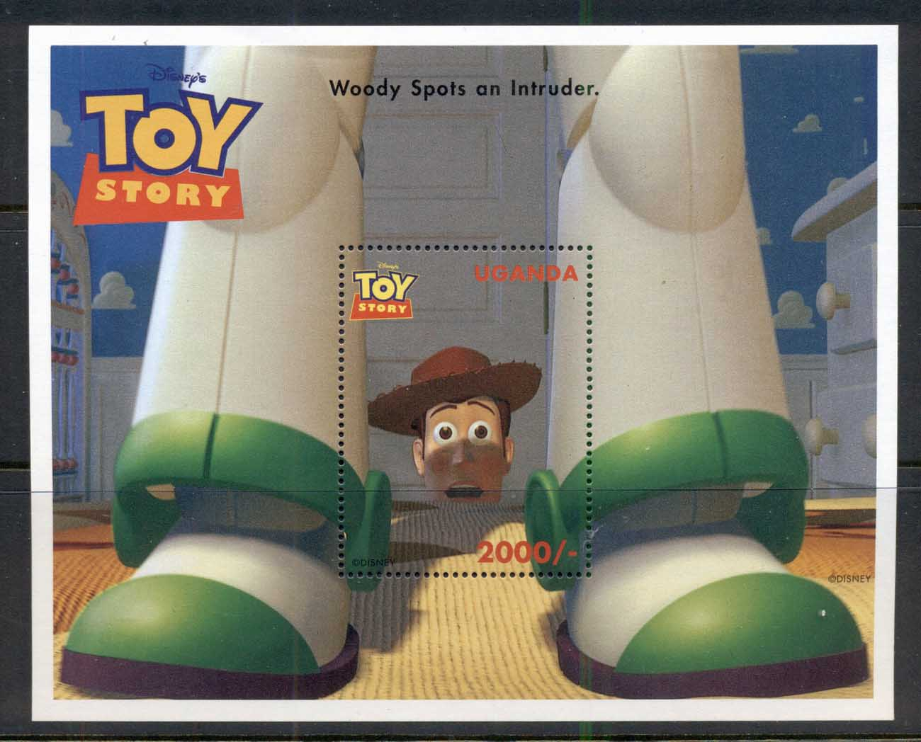 Uganda 1997 Disney, Toy Story, Woody MS MUH