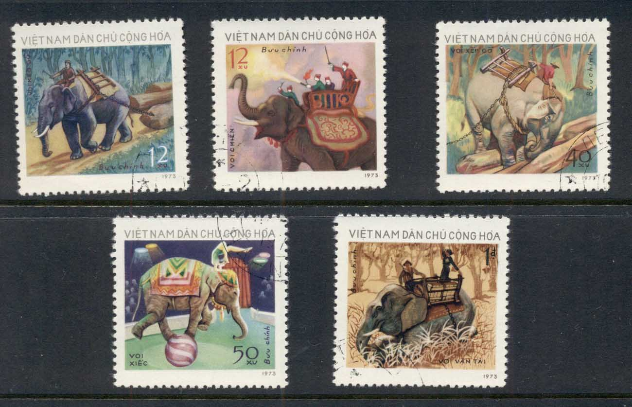 Vietnam 1974 Elephants CTO
