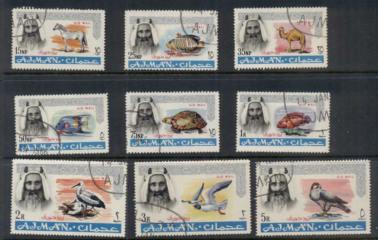 Ajman 1965 Definitives Air Mail, Fauna CTO