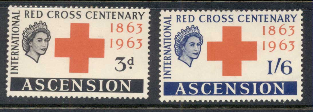 Ascension Is 1963 Red Cross MLH