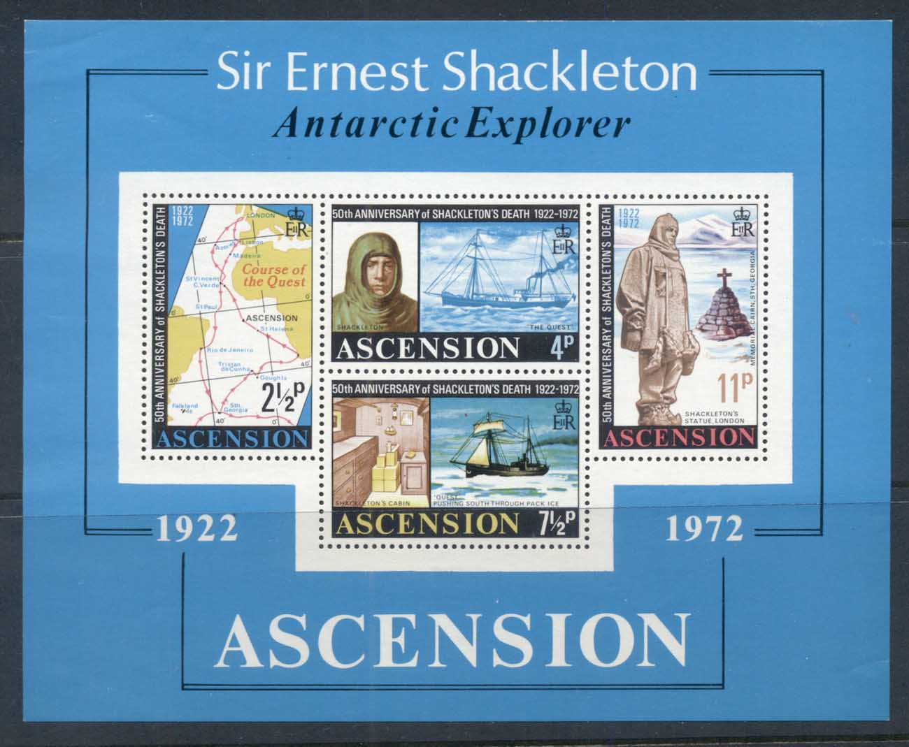 Ascension Is 1972 Ernest Shackleton MS MUH