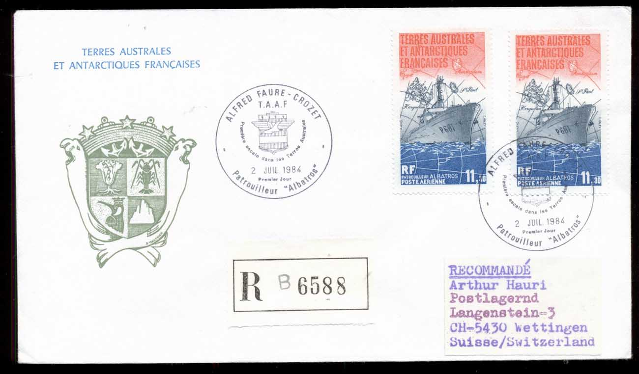 French Antarctic Territory 1984 Patrol Ship Albatross cover