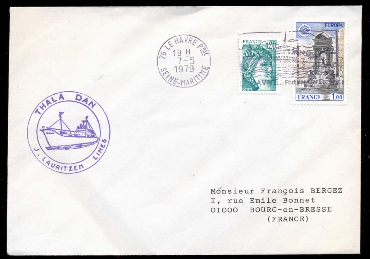 French Antarctic Territory 1979 Thala Dan cover