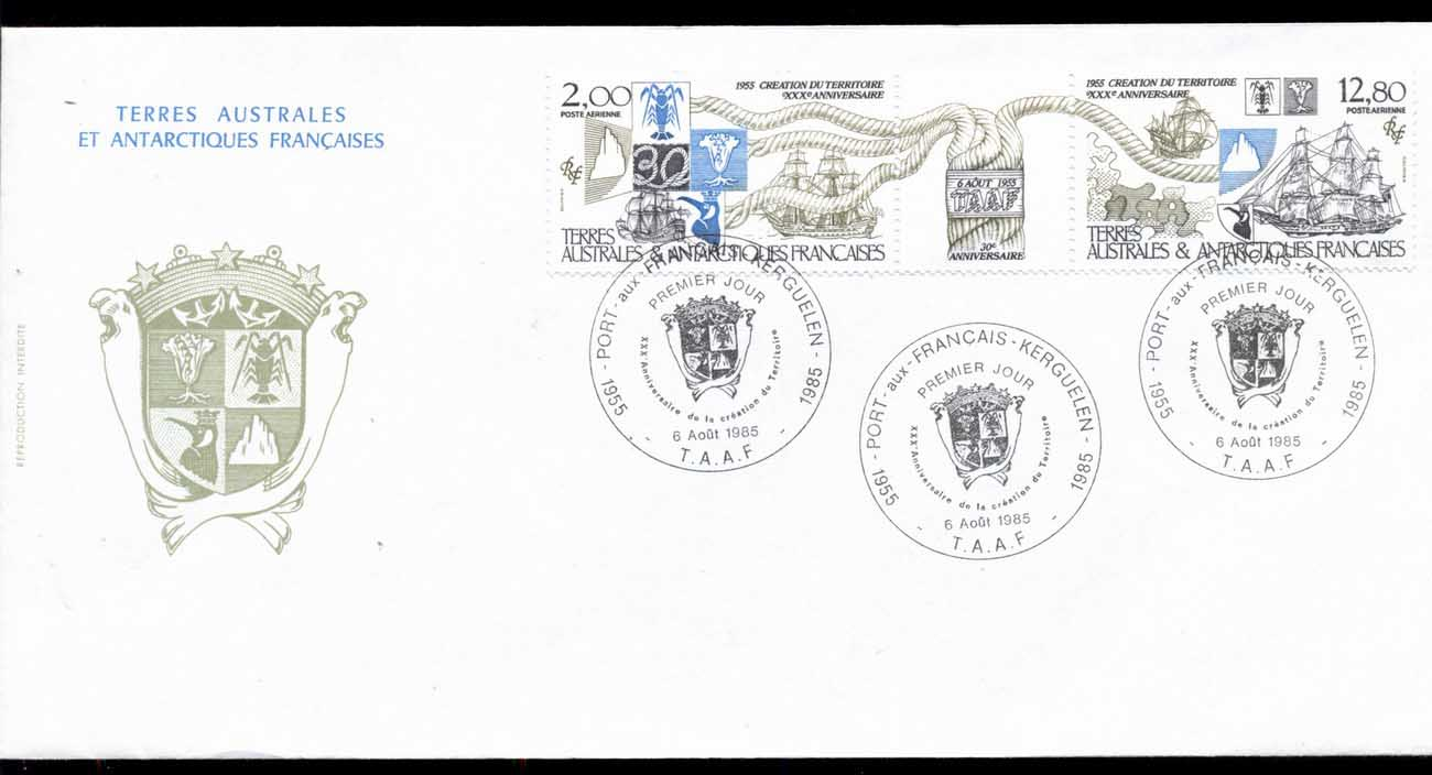 French Antarctic Territory 1985 FSAT 30th Anniversary FDC