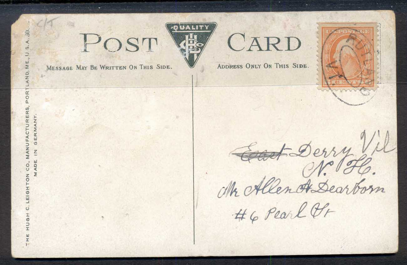 USA 1915c 6c Washington to Pearl Harbour, Memorial Hall PPC