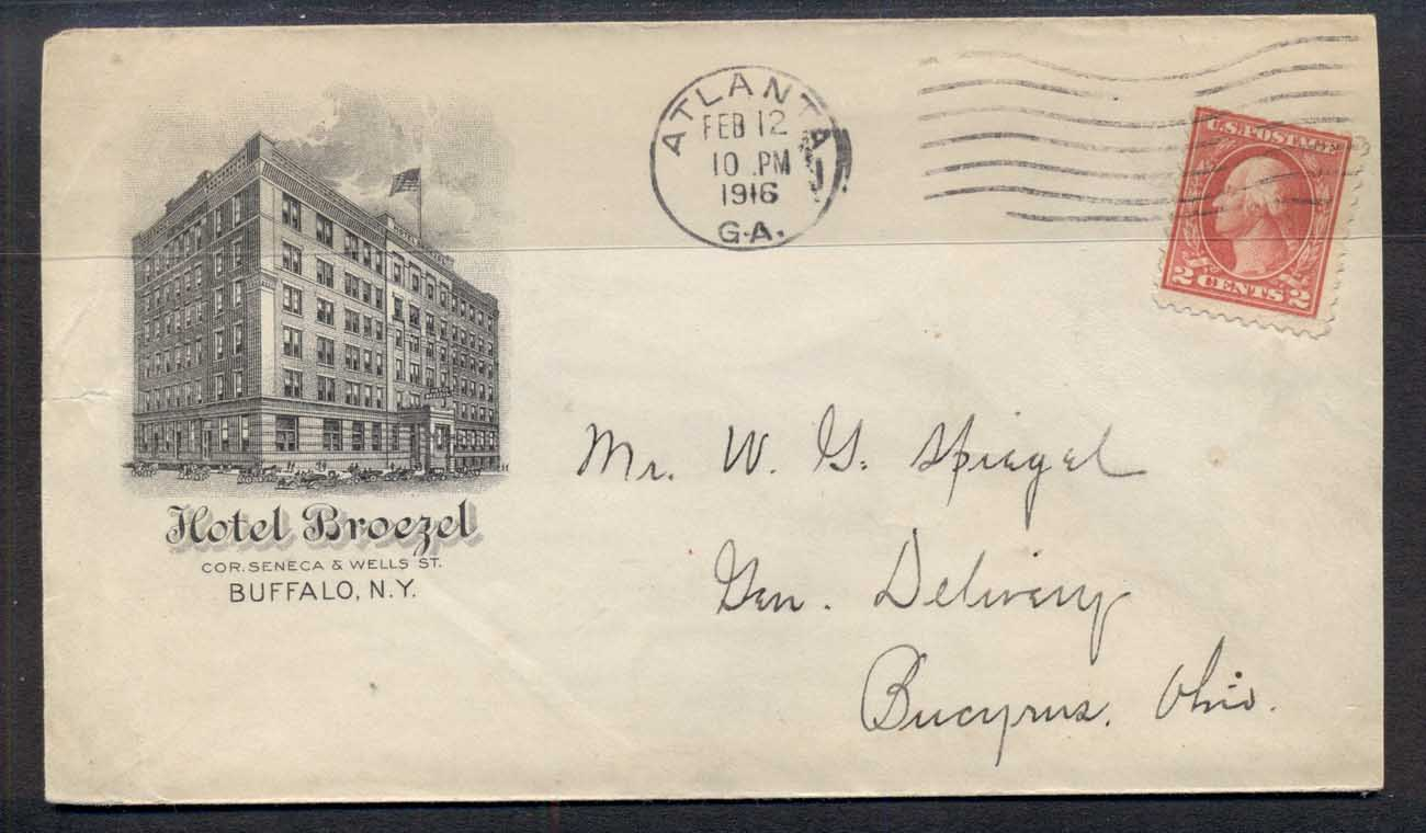 USA 1916 2c Washington Hotel Advertising cover
