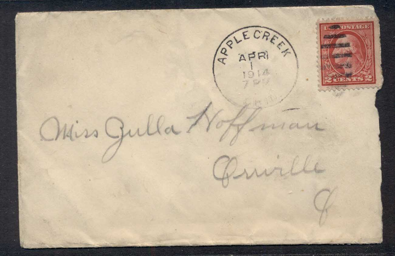 USA 1914 2c Washington cover to Orville