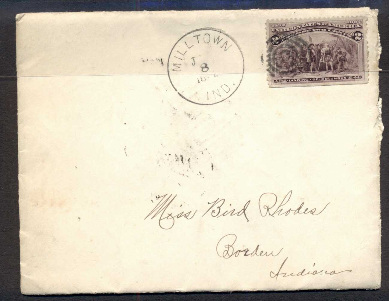USA 1894 2c Columbian cover to Indianna