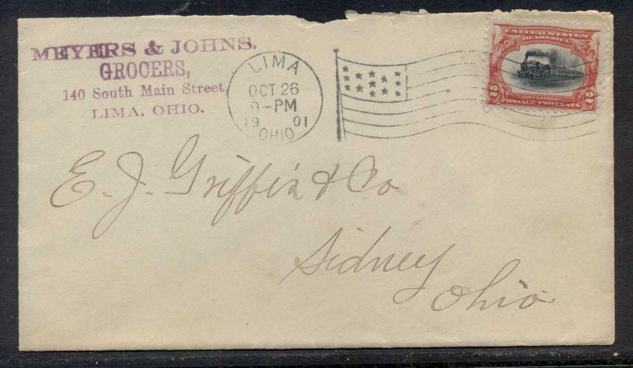 USA 1901 Pan American 2c CC cover to Ohio, Grocers
