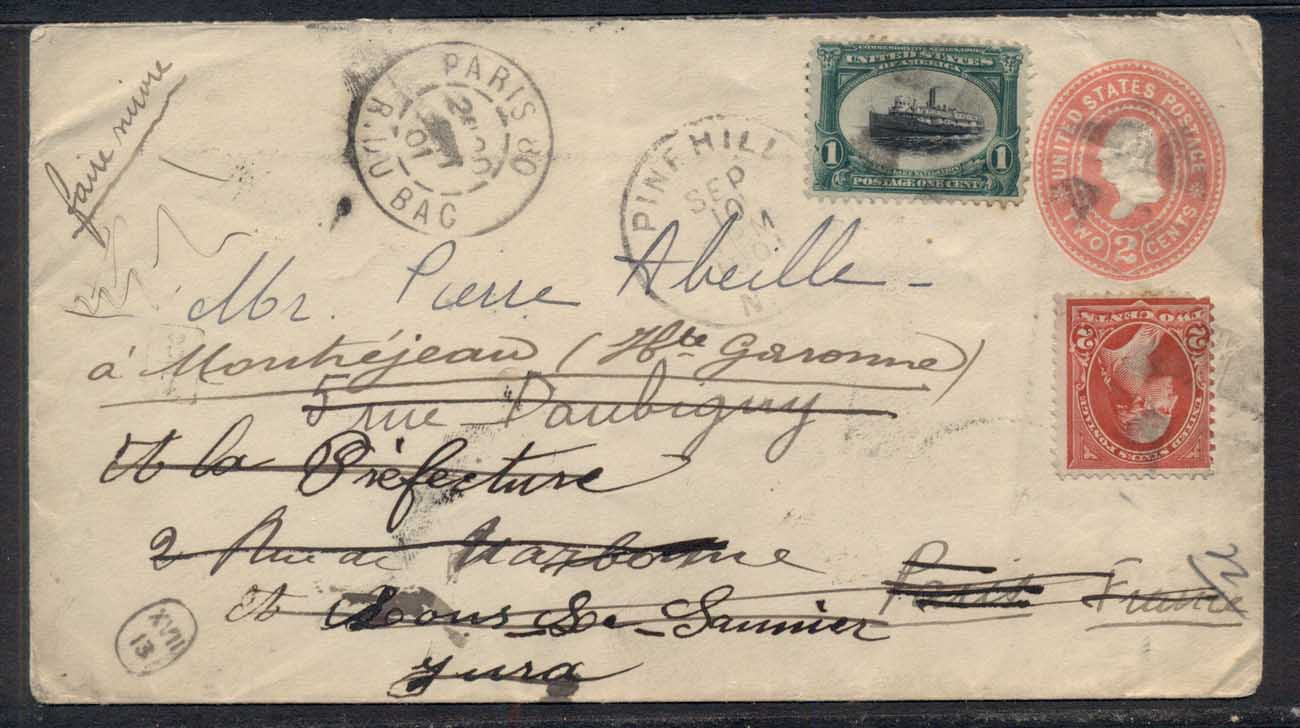 USA 1901 Pan American Uprated, redirected to France