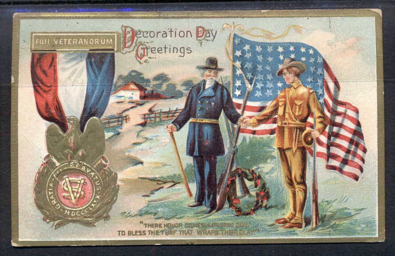 USA 1913 PPC Patriotic Veterans